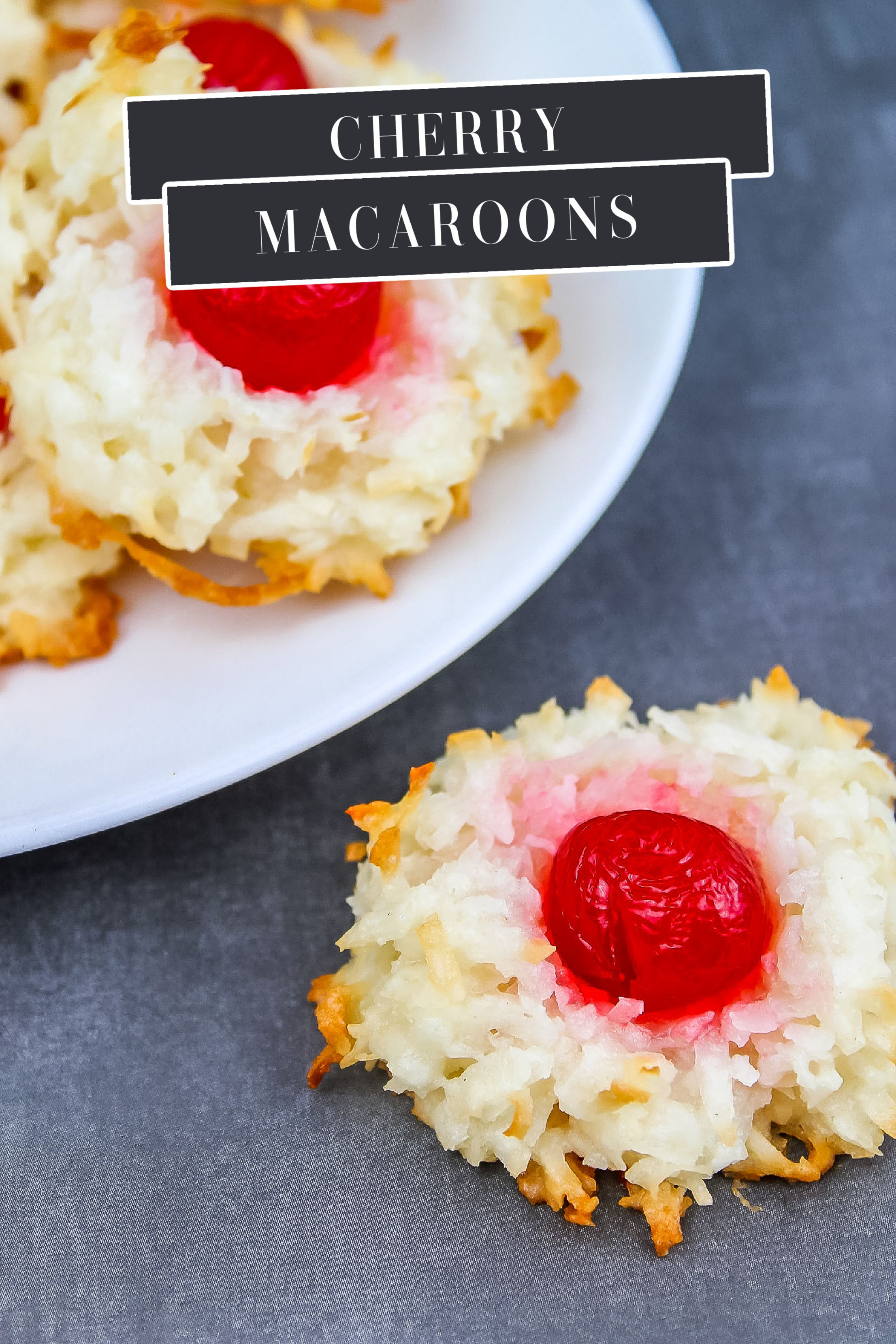 Cherry Macaroons Classic Christmas Cookies With Coconut Recipe Favorite Cookie Recipe Macaroons Coconut Macaroons