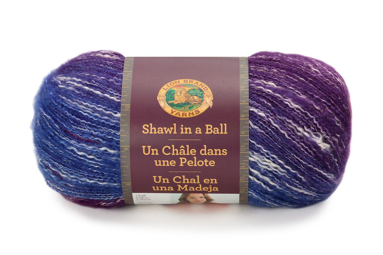 Free Knitting Pattern L50171 Sedona Triangle Shawl : Lion Brand Yarn ...