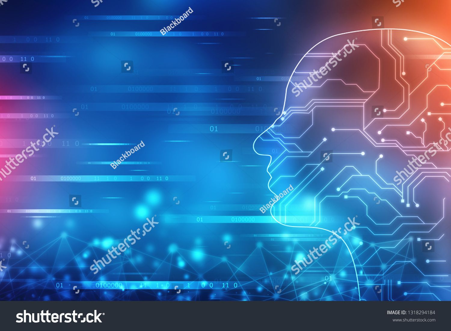 Abstract Artificial Intelligence Technology Web Background Human Head Outline With Binary Codes Virtu In 2020 Artificial Intelligence Technology Abstract Background