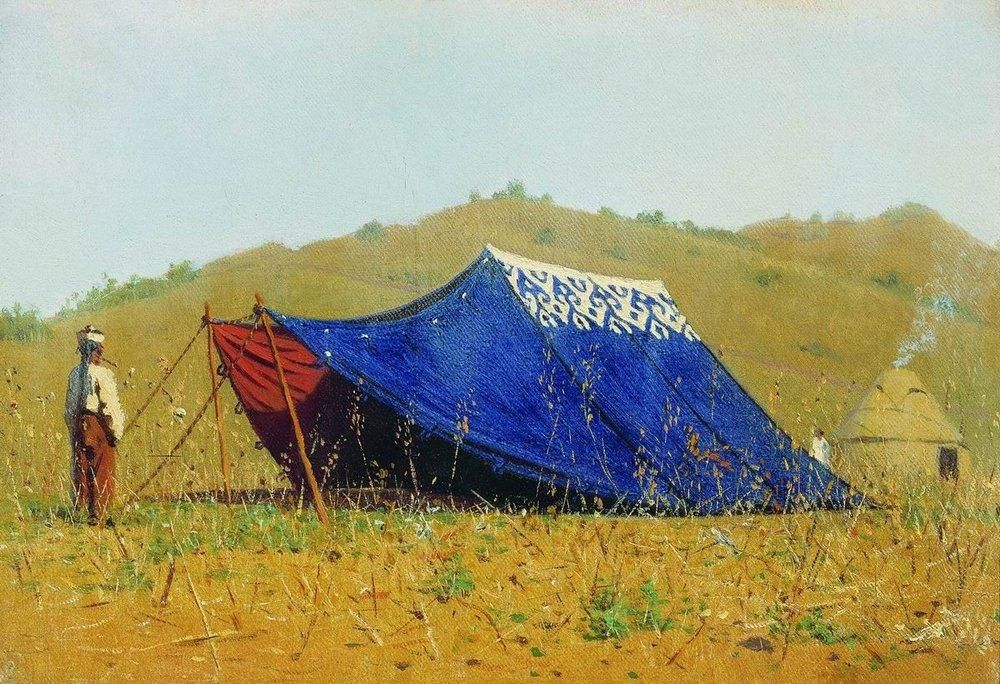 Chinese Tent 1869 1870 Tent Popular Paintings Traditional Art
