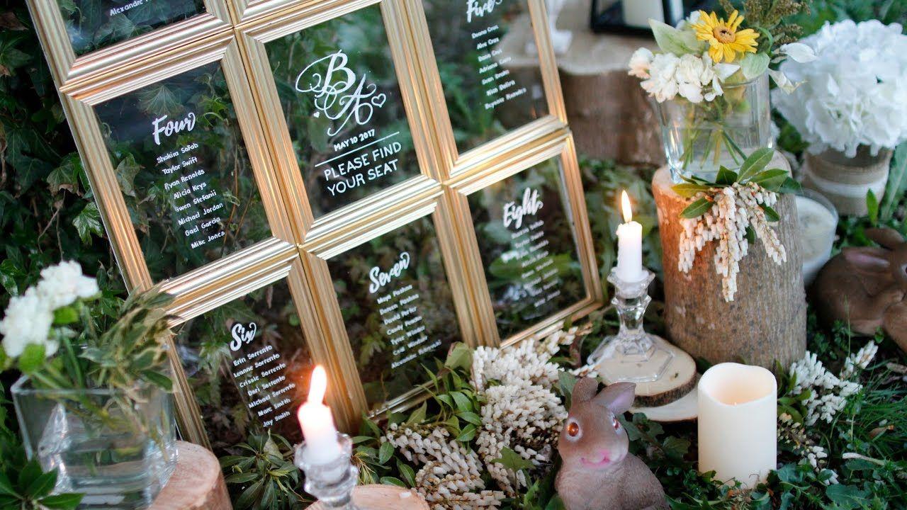 Diy Wedding Decor Dollar Tree Wedding Seating Chart Youtube I