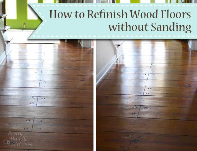 How To Refinish Wood Floors Without Sanding Pretty Handy Girl 2