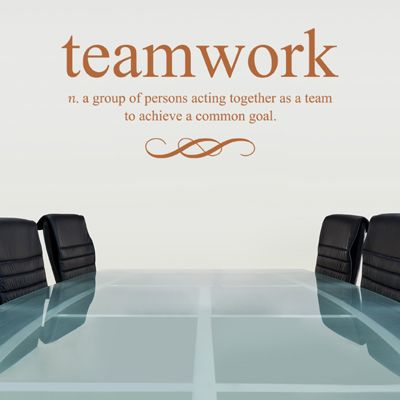 Teamwork Defined - Quote - Wall Decals Stickers Graphics ...