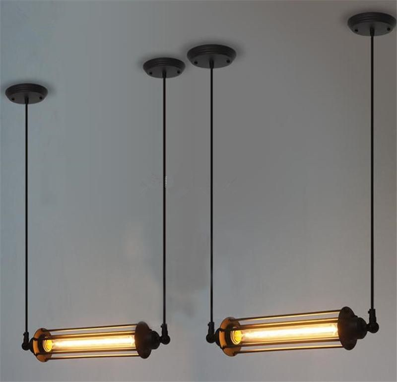 RARE Vintage Style Industrial ceiling lamp Loft Edison tube light ...