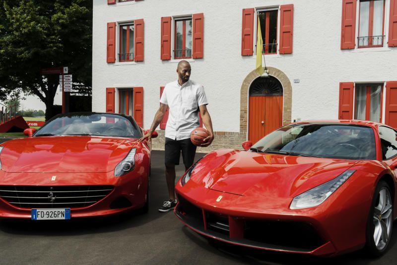 Kobe Bryant Visits Maranello on European Tour