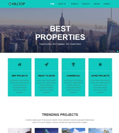 Real estate Free Web Template | Bootstrap Template Free | Pinterest ...