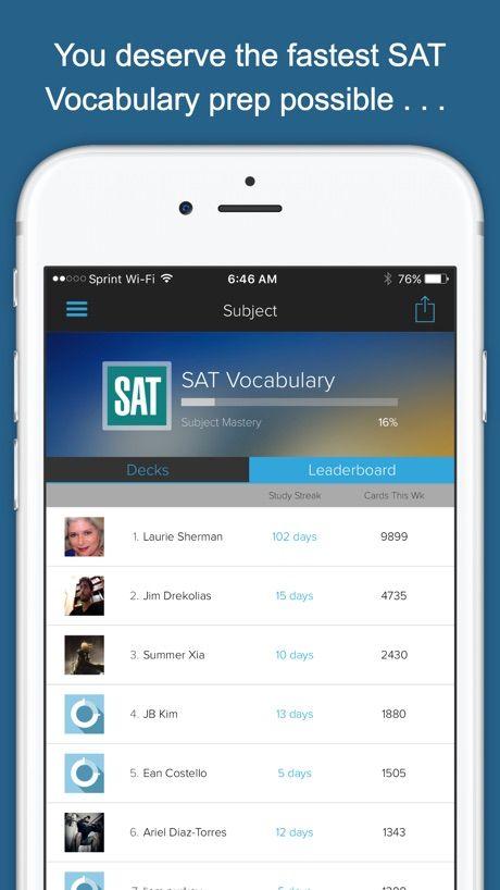 SAT Vocab Genius on the App Store Vocab, How to
