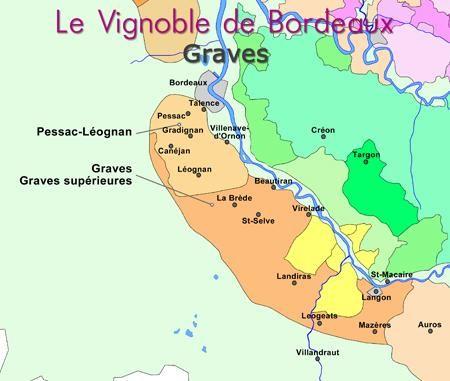 Carte Region Des Graves Du Vignoble Bordelais