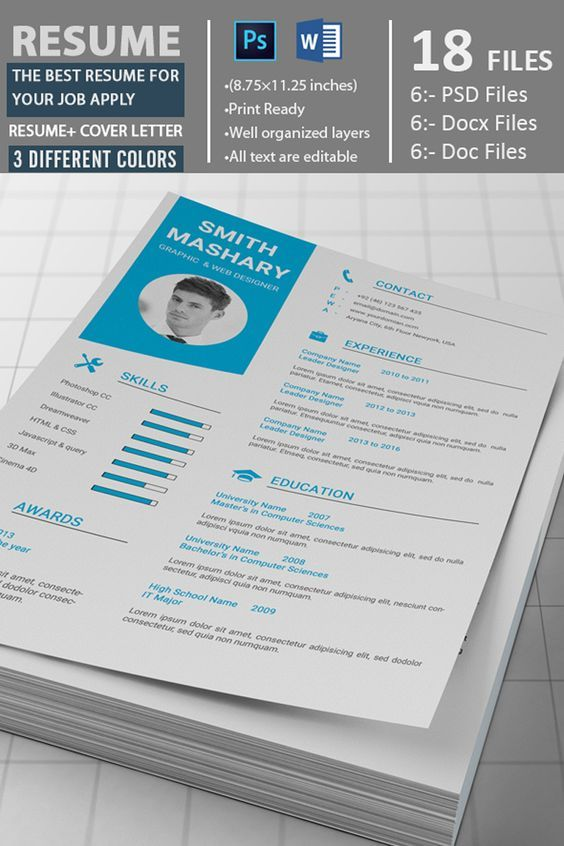 Graphic Designer - Resume Template Pinterest Graphic designer