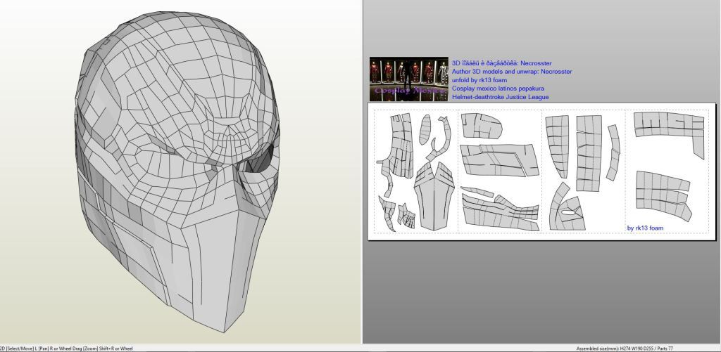 Dc comics deathstroke mask foam mask for Deathstroke armor template