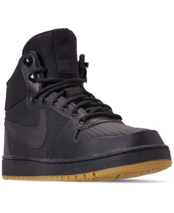 best service 93c5f 01cfd Nike Men s Ebernon Mid Winter Casual Sneakers from Finish Line - Black 8