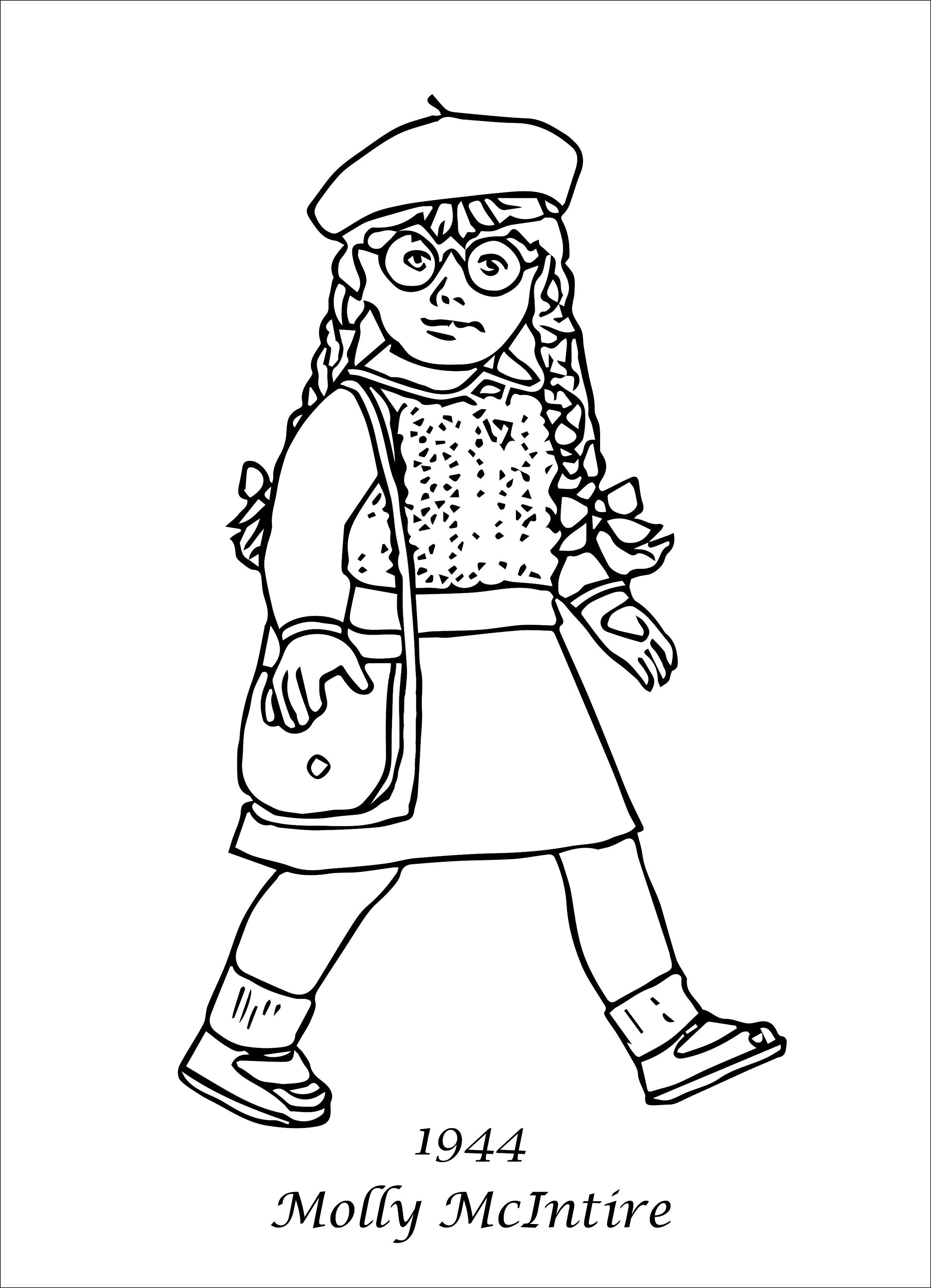 American Girl Magazine Coloring Pages