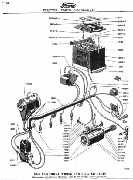 Ford Jubilee Tractor Wiring Diagram