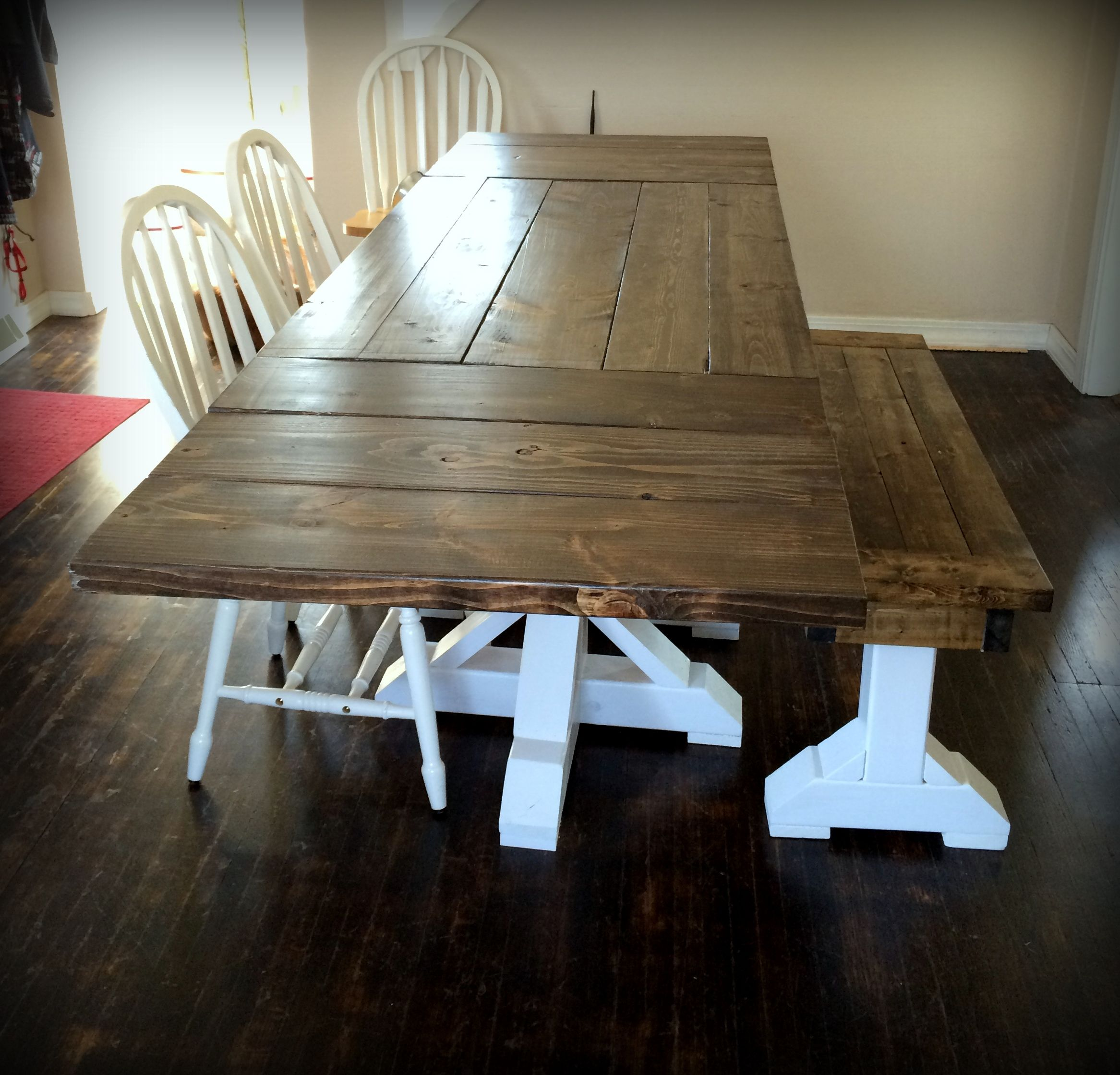 The Paul Bunyan Farmhouse Dining Room Table With Extendable Leaves Caitie Collection