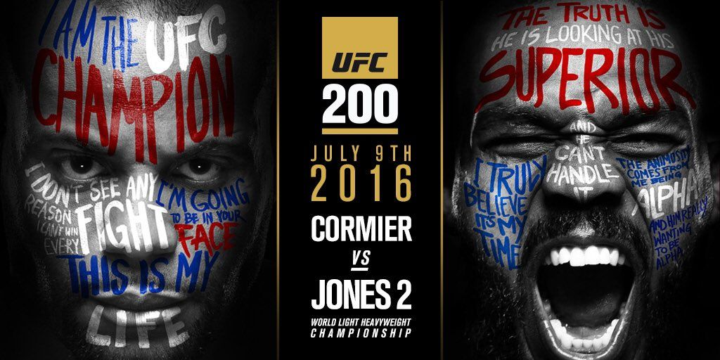 UFC 200 Main Event Daniel Cormier vs. Jon Jones 2 • /r