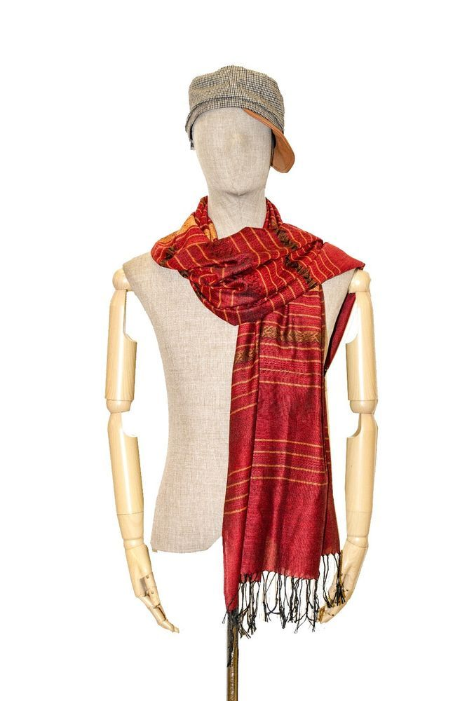 Unisex Summer Scarf Shawl Scarves Kerchief Bikini Wrap S Silk Cotton Tassel Red  #Handmade #Scarf