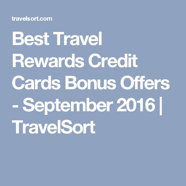 Top Five Best Credit Cards For Travel
