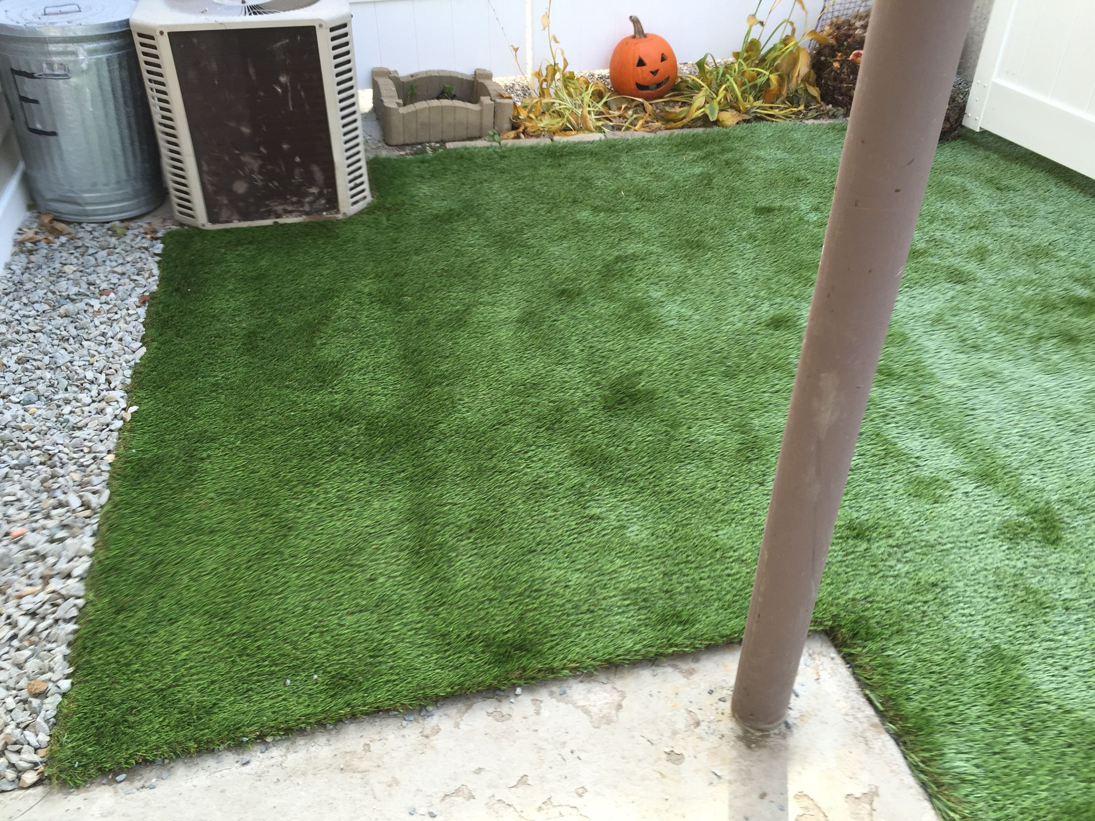 installation of gold blended turf for south boston backyard for