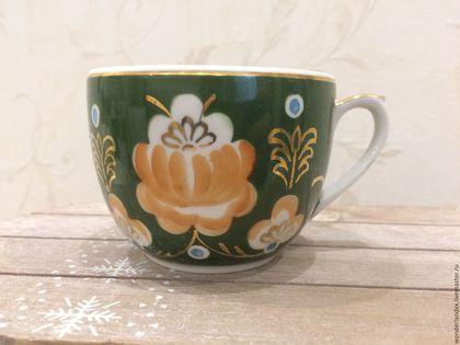 Чайная чашечка, Вербилки в интернет-магазине на Ярмарке Мастеров. В отличном состоянии, крытие, позолота..