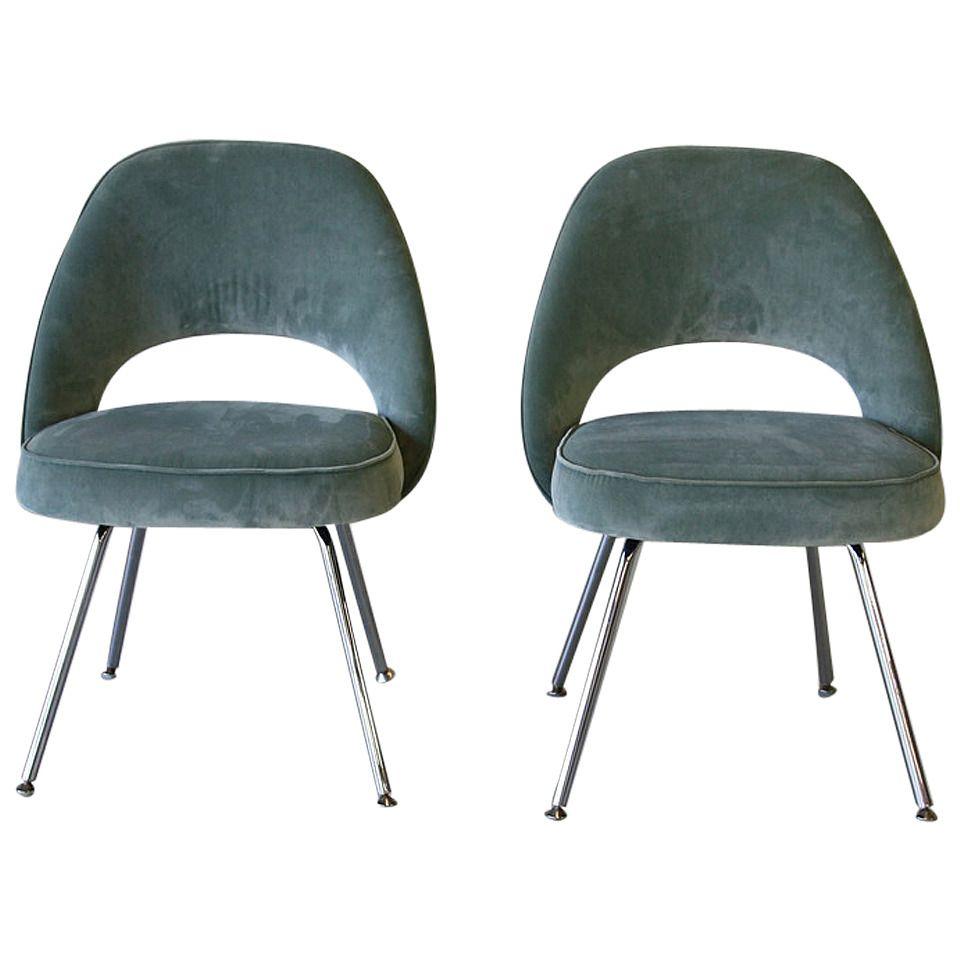 Pair of Saarinen Side Chairs Knoll in 2019  DINING