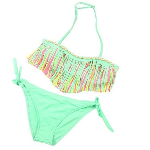 Summer Baby Girl Bikini Suit Swimwear Swimsuit Tassel Bathing Beachwear Swimming