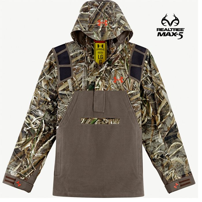 494242532809f Men's Realtree Max 5 Camo Under Armour Skysweeper Hoodie #RealtreeMax5