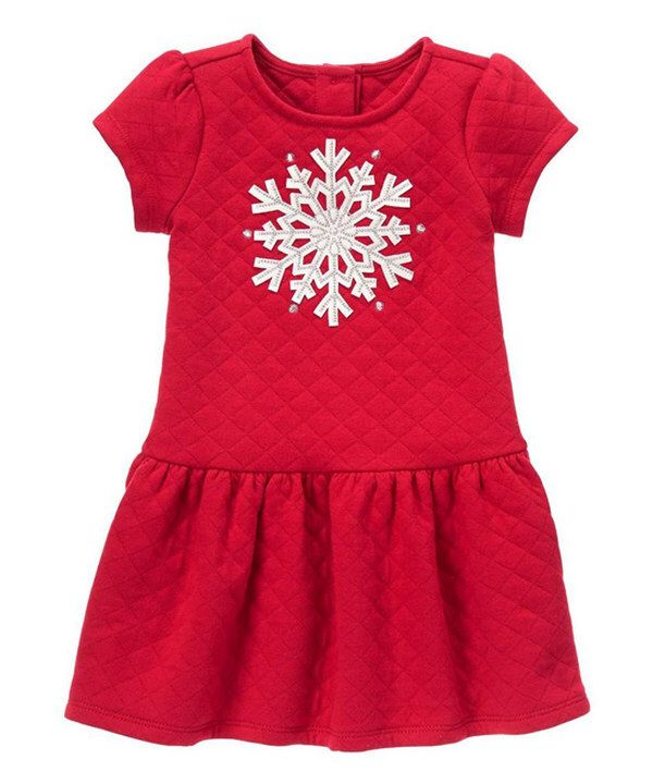 10e389ba0cd3 Look at this Gymboree Red Snowflake Drop-Waist Dress - Infant & Toddler on #zulily  today!