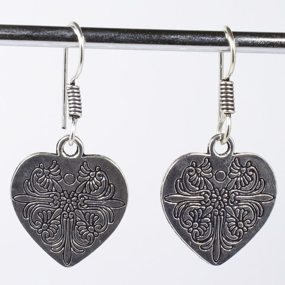 Beautiful artisan heart shape earrings 925 silver plated jewelry beautiful artisan heart shape earrings 925 silver plated jewelry from india find this pin and more on wrought iron chandeliers arubaitofo Images