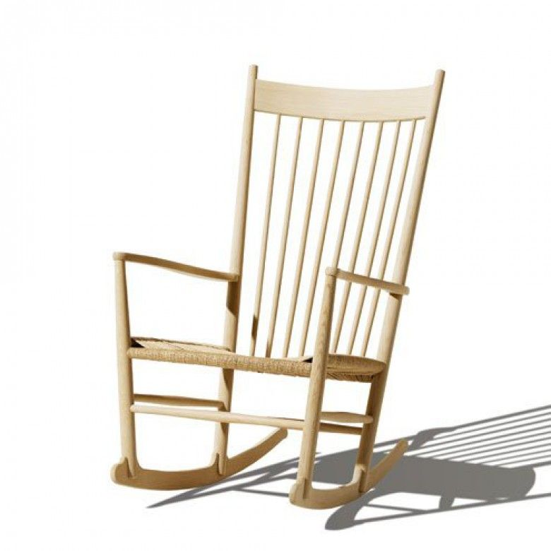 Hans J. Wegner Gyngestol (1) J16 Black Roking Chair