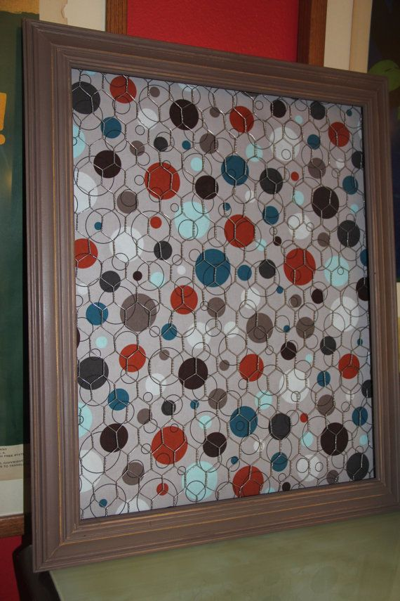 Custom Order For STACEY Chicken Wire Memo Board In Antique White Best Funky Memo Boards