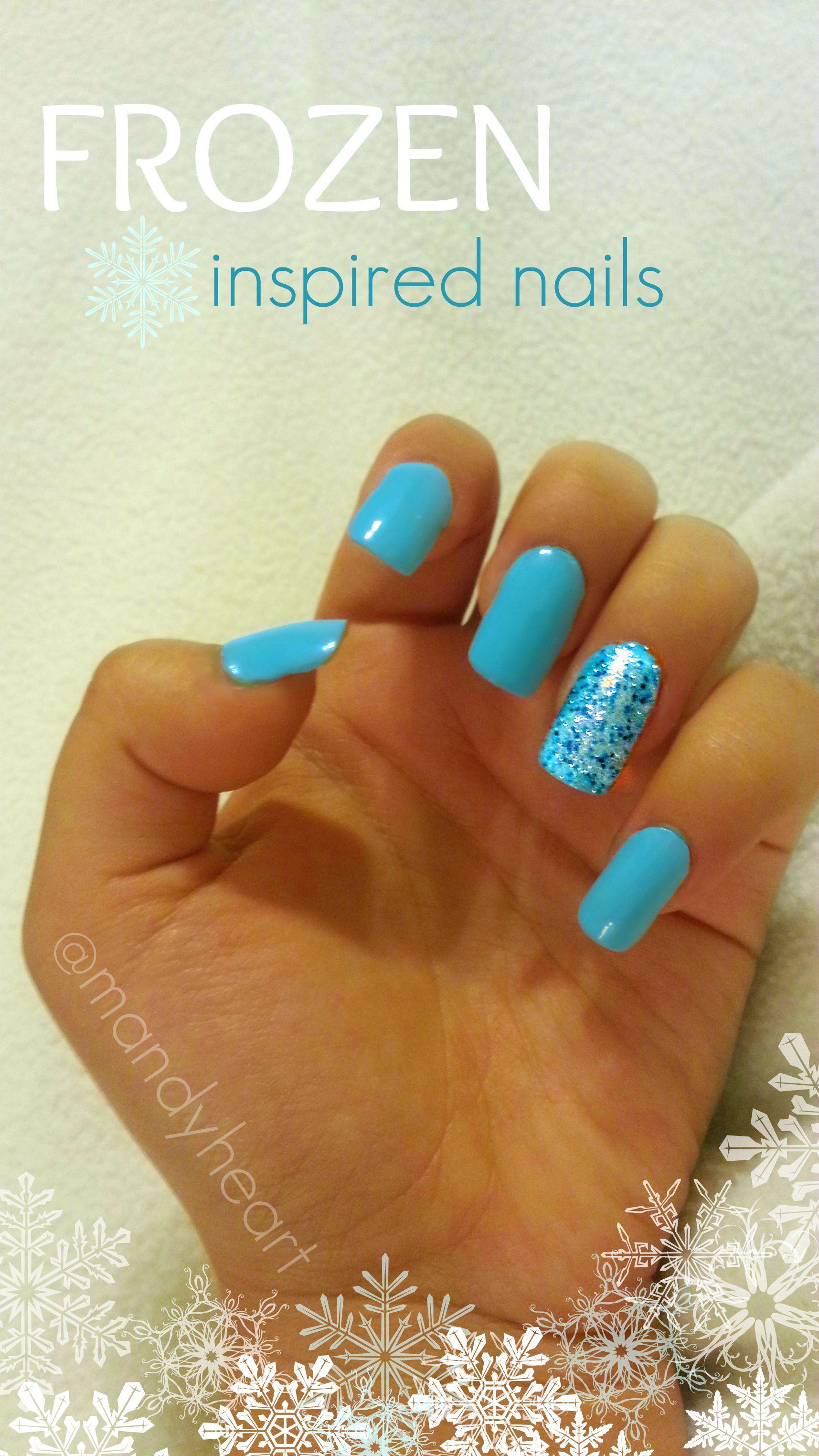 Frozen inspired nails.   Nail Art   Pinterest