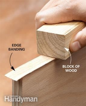 Edge Banding With Iron-On Veneer Edging | for the shop | Woodworking