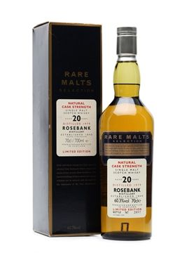 A bottling of 1979 vintage Rosebank from the Rare Malts Selection. In line with the range, this was bottled at natural cask strength.  Bottles from Rosebank are in high demand, partly due to the fact the distillery is now closed.  #Whisky