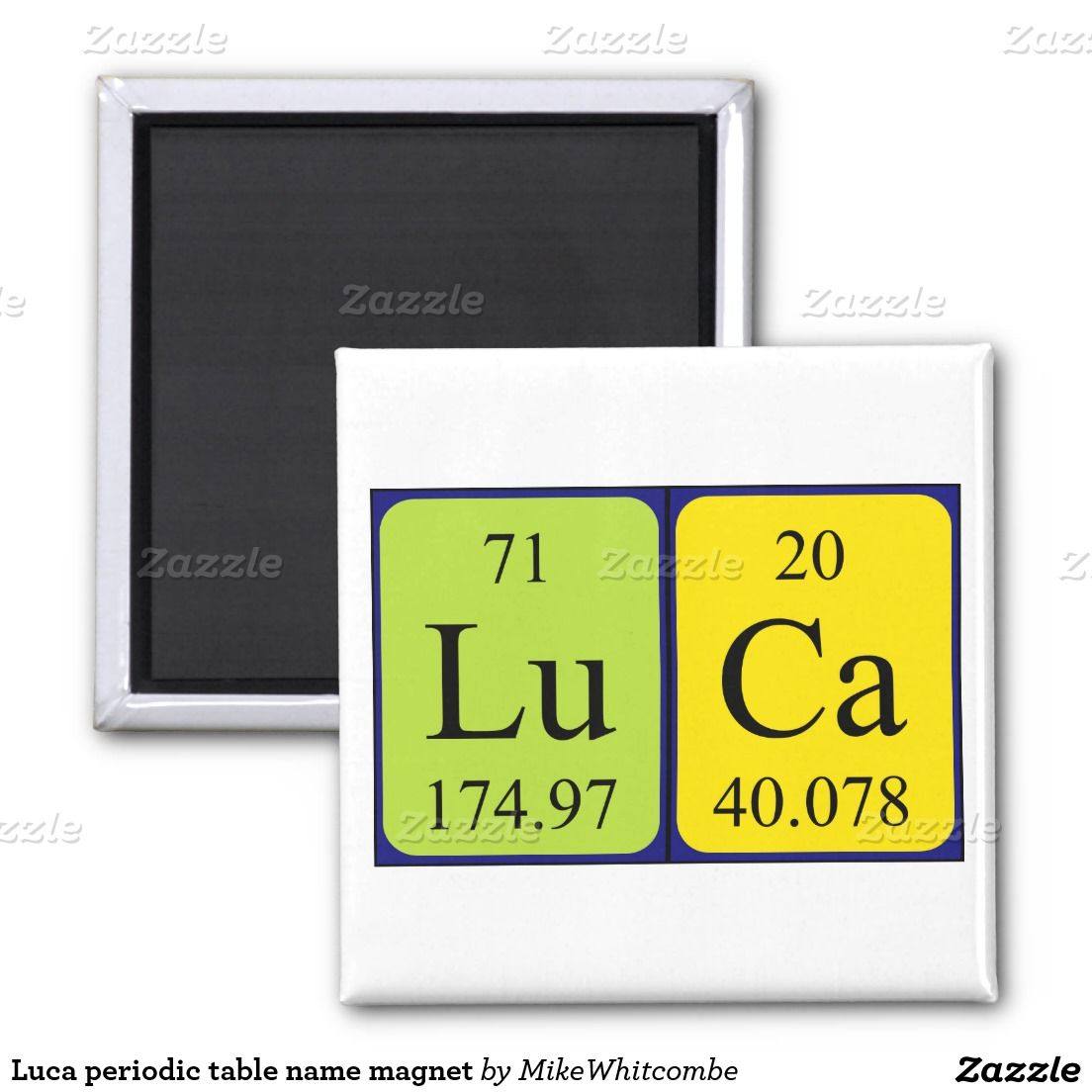 Luca periodic table name magnet july 2015 purchases from my zazzle luca periodic table name magnet urtaz Image collections
