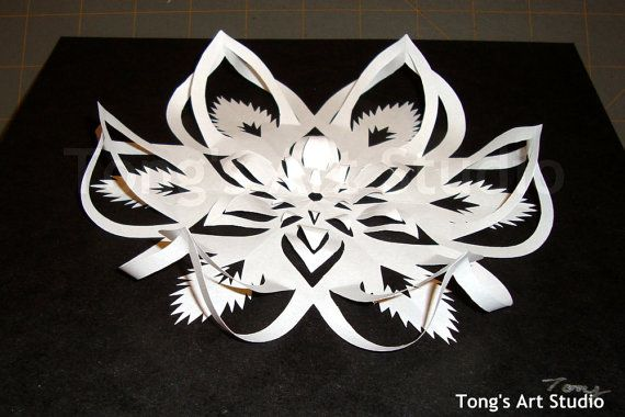 3d Snowflake Cutting Patterns 2 Different Sized Patterns Pdf 3d