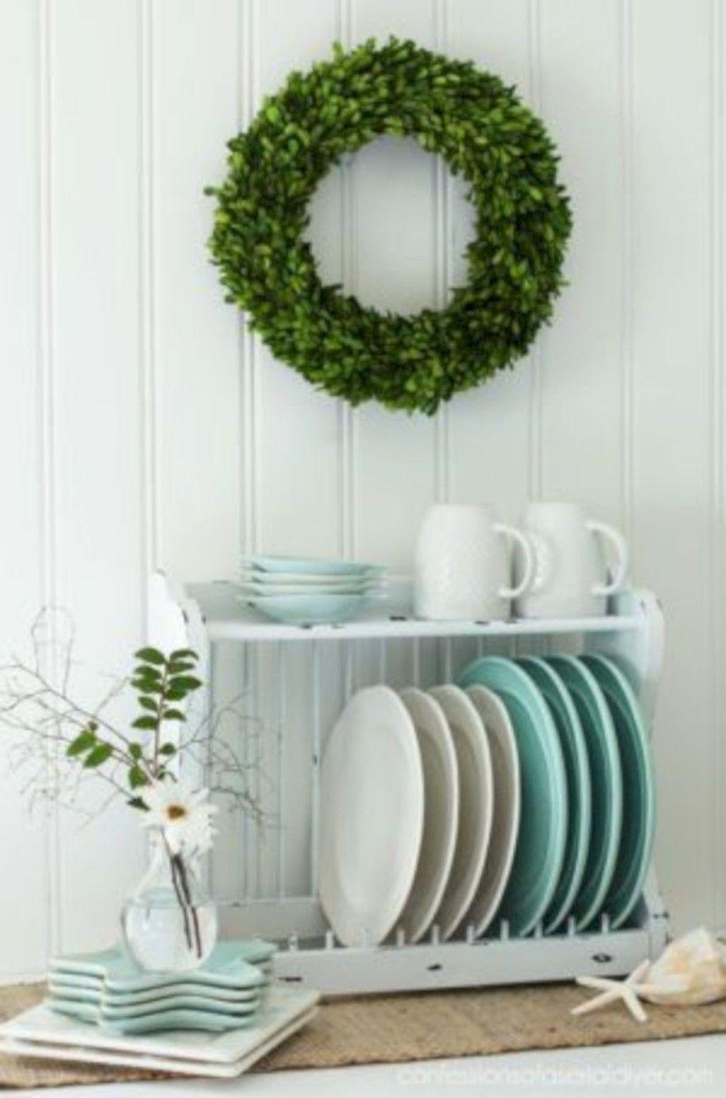 30+ Fancy Diy Farmhouse Plate Rack Ideas That You Can Do #plateracks