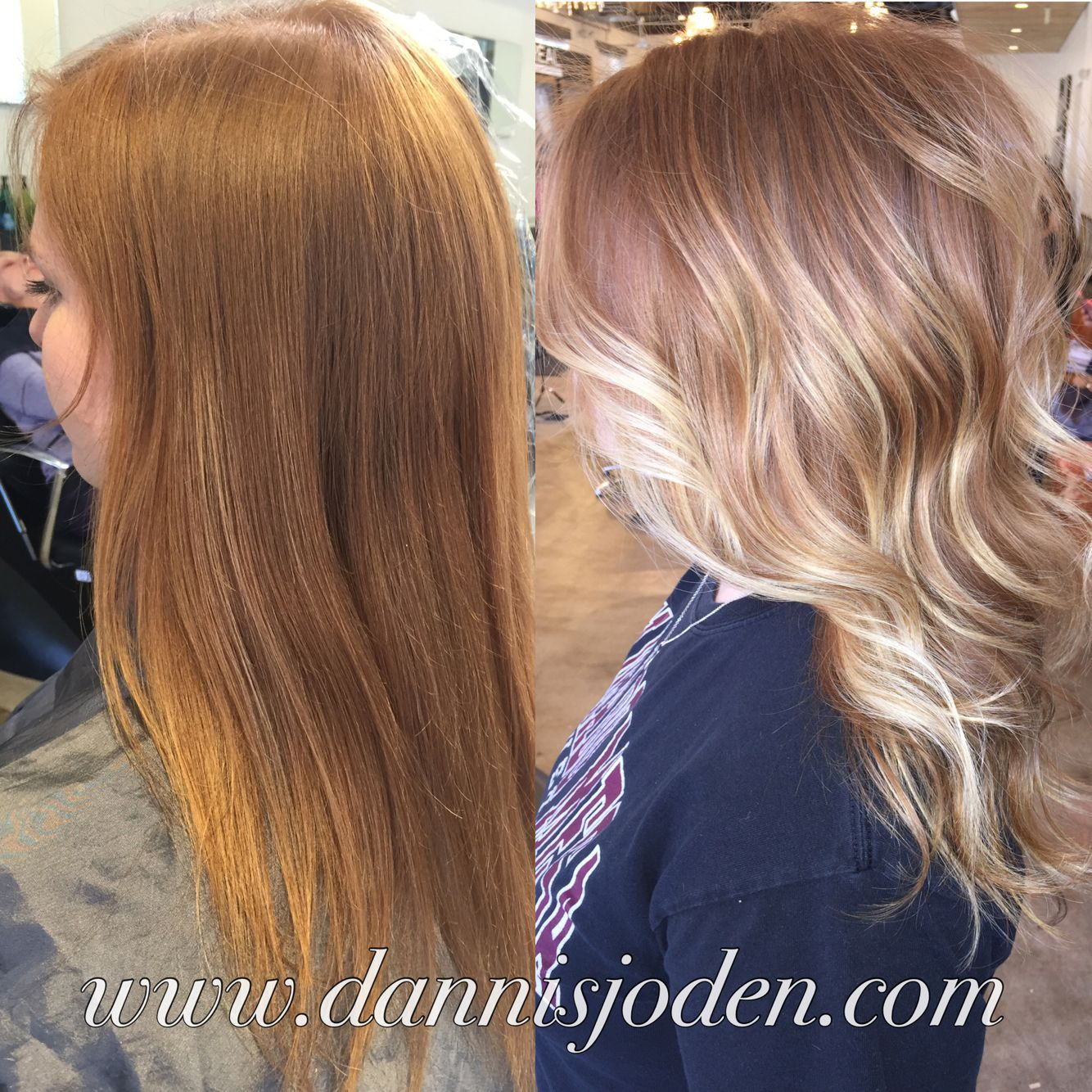 Natural Red Head With Bright Platinum Balayage Hair By