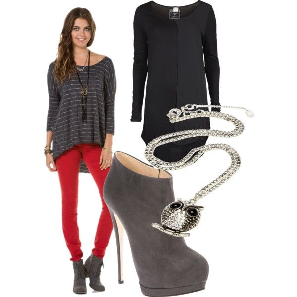 what to wear with red leggings