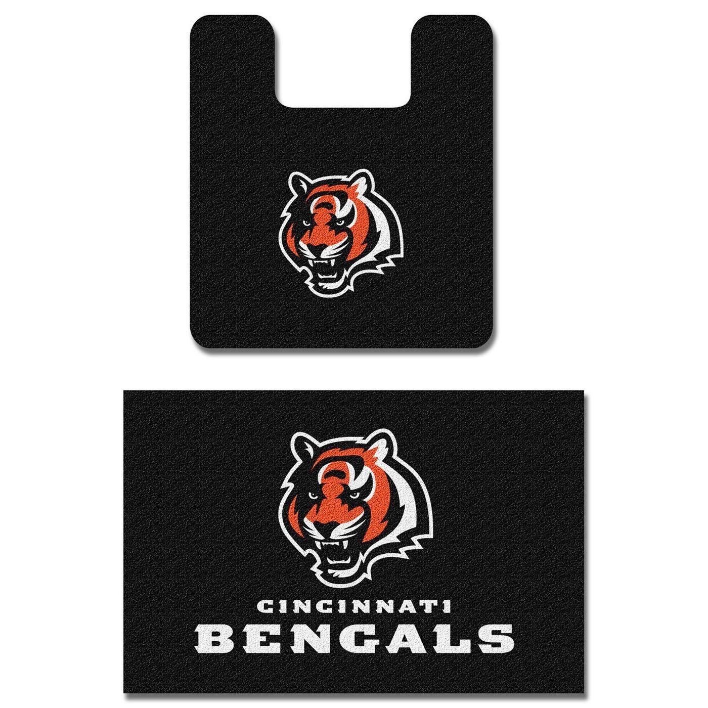 NFL Cincinnati Bengals Bath Mat Set Football Bathroom Rugs Brody - Orange bath mat set for bathroom decorating ideas