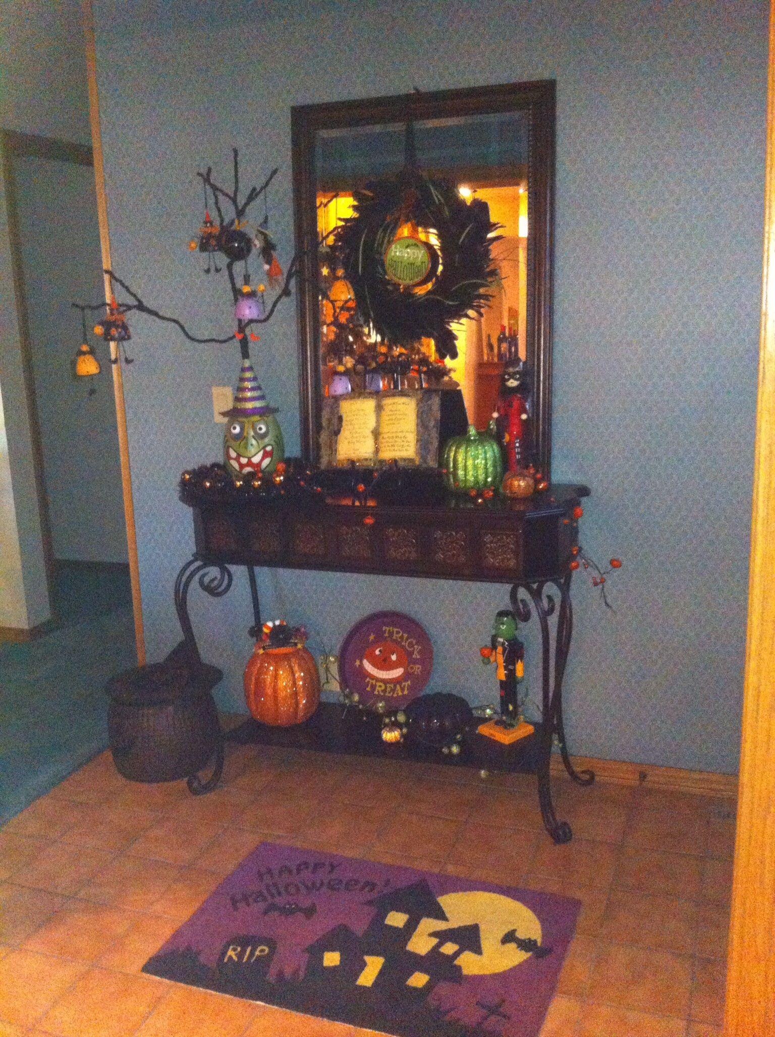 Entryway Decor, Home decor, Halloween