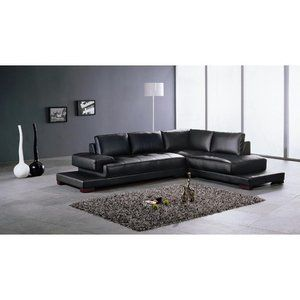 Hokku Designs Ruby 2 Piece Leather Sectional Sofa Set in ...