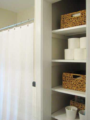 bathroom linen closet. Bright Nice Weave  Chocolate color Open closets and Closet doors