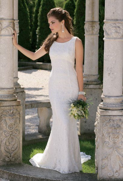 2157w Fully Beaded And Lace Wedding Dress With Scoop Neck Empire Waist Princess Seams An Beaded Lace Wedding Dress Wedding Dresses Beaded Wedding Dresses