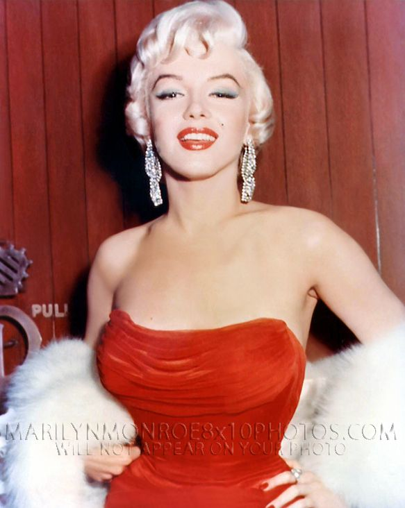 MARILYN MONROE BEAUTY IN A RED DRESS 2xRARE 8x10 PHOTOS - Romantic ...