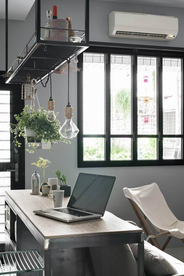 tag re suspendue et fen tre style verri re d co. Black Bedroom Furniture Sets. Home Design Ideas