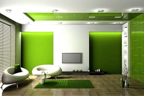 Salotto Moderno Verde : Arredare casa con i toni del verde home design inspiration