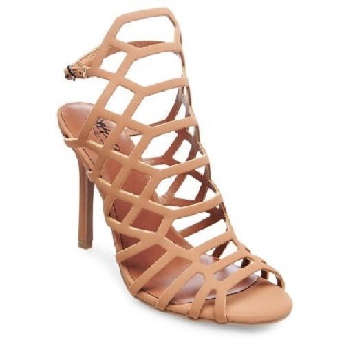 40349d55abf Women s Kylea Caged Heel Strappy Gladiator Pumps Mossimo Tan 8.5  Mossimo   Strappy