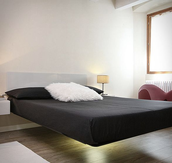 Fluttua Suspended Bed Design Pinterest Floating Bed Bed And