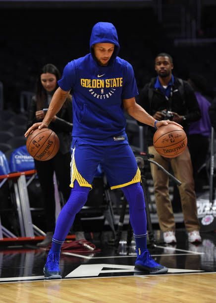1cd4018905b549 Stephen Curry of the Golden State Warriors during pre game warm up before  the start of a basketball game against Los Angeles Clippers at Staples.