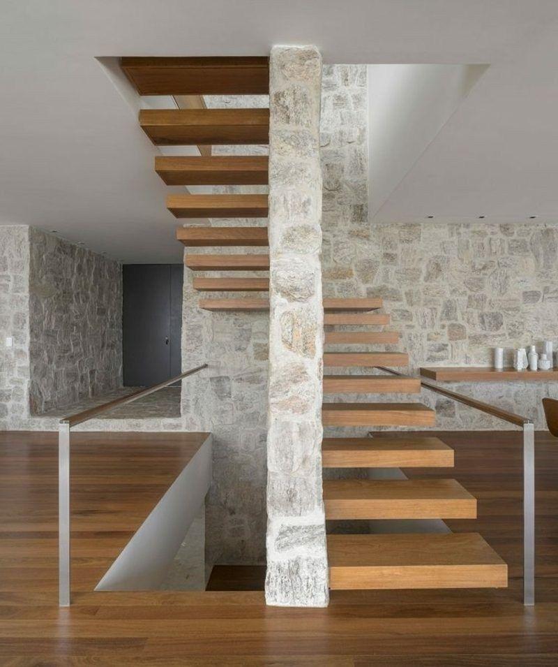 Stunning Modern Stairs Design36 en 2019 Escaleras
